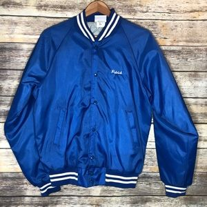 Vintage baseball quilted jacket embroidered royals